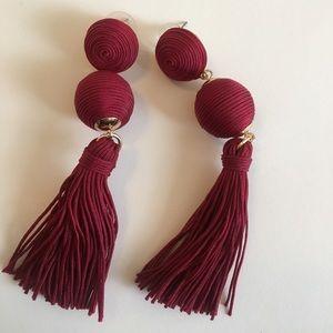 Very cute burgundy earrings
